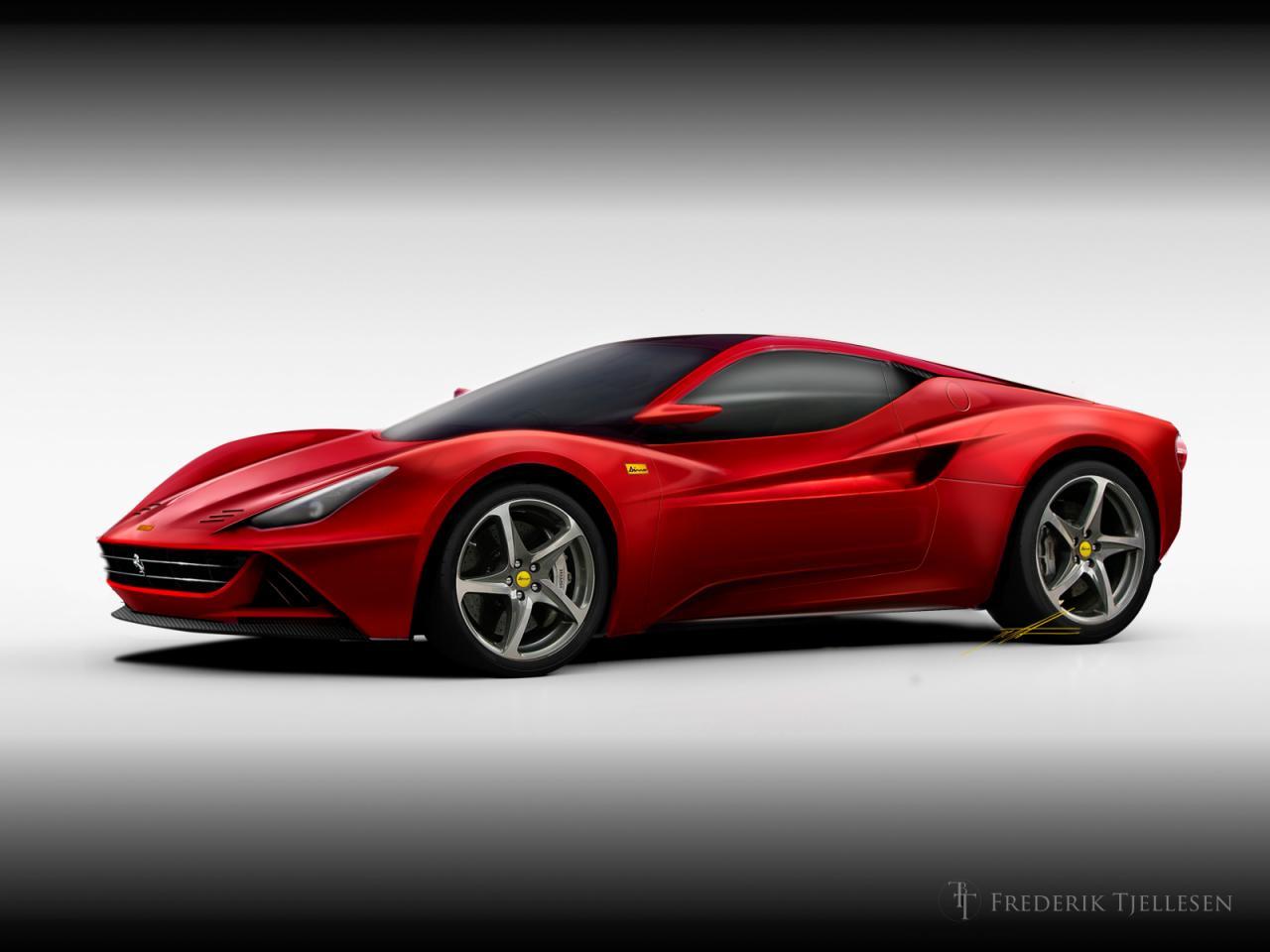 Ferrari Dino 2015 render by Frederik Tjellesen