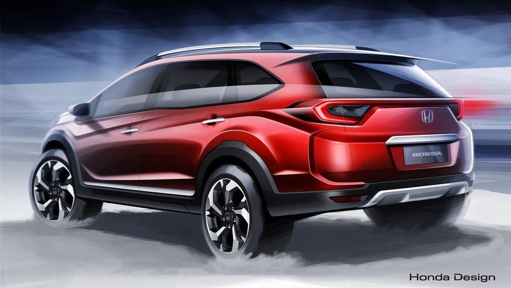 Honda BR-V официальный дизайн скетч прототипа