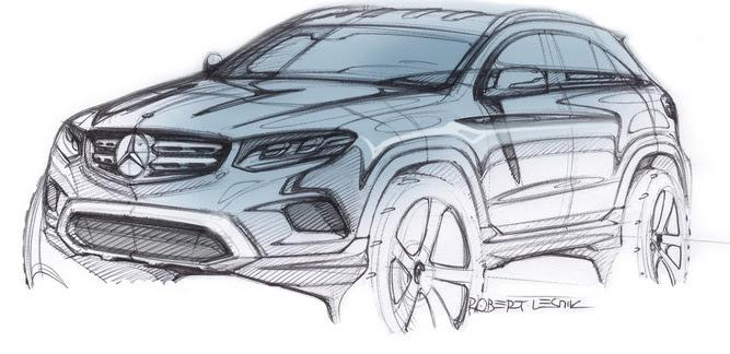 Mercedes-Benz GLC официальный дизайн-скетч / official design sketch