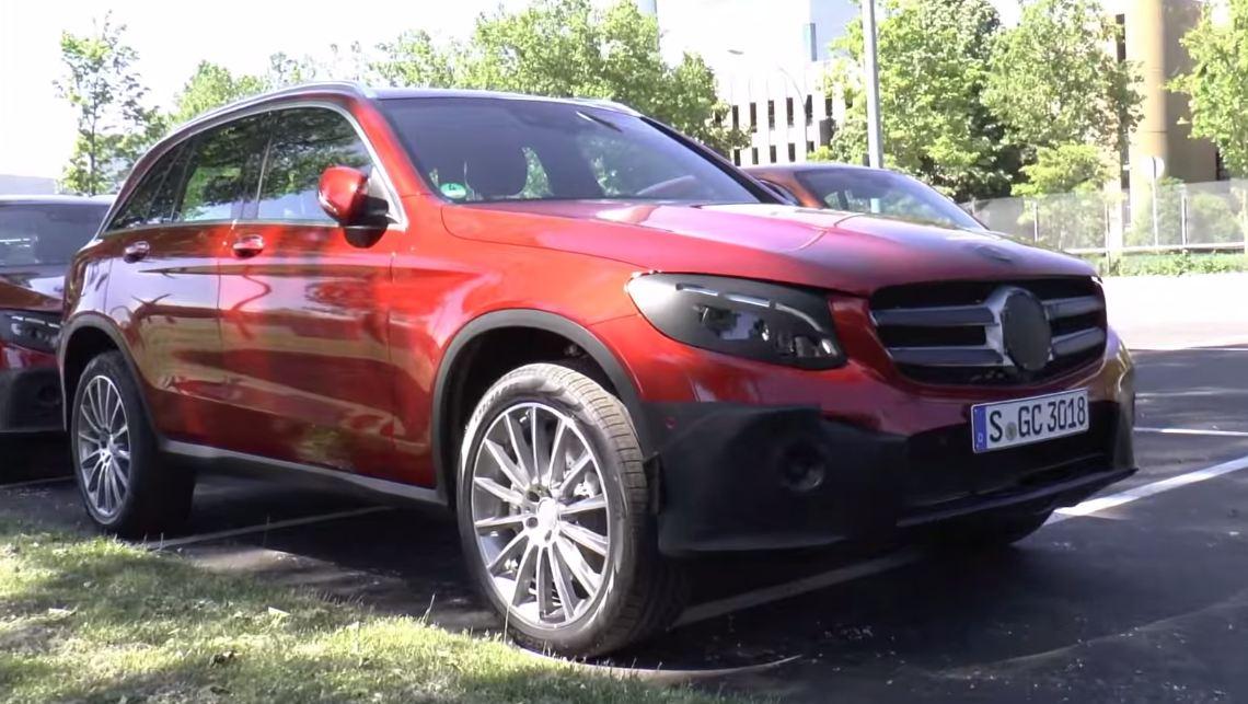 Mercedes-Benz GLC 2016 spy photo/video interior exterior - шпионское фото видео интерьера, экстерьера