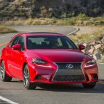 Red Lexus IS 200t F Sport 2016