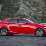 Red Lexus IS 200t F Sport 2016