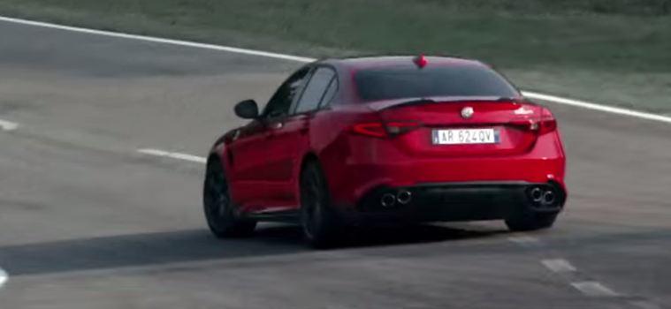 Alfa Romeo Giulia QV promovideo screen