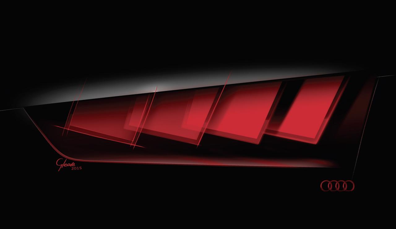Тизер концепта Audi с матричной светодиодной оптикой