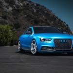 Audi S5 tuning / тюнинг Vorsteiner в эффектном ярко голубом цвете