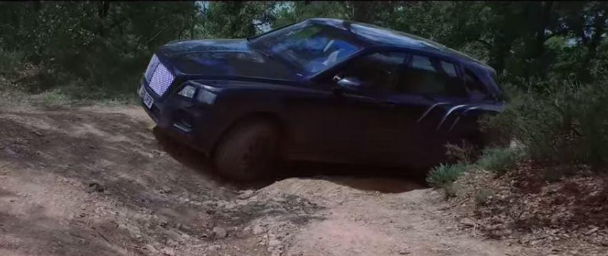 Bentley Bentayga видео-тизер на бездорожье