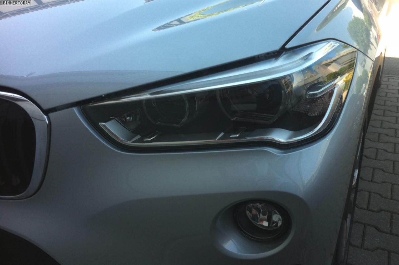 BMW X1 2016 модельного года шпионское фото