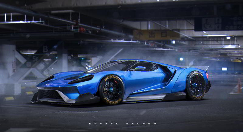 Ford GT 2016 Liberty Walk render Khyzyl Saleem