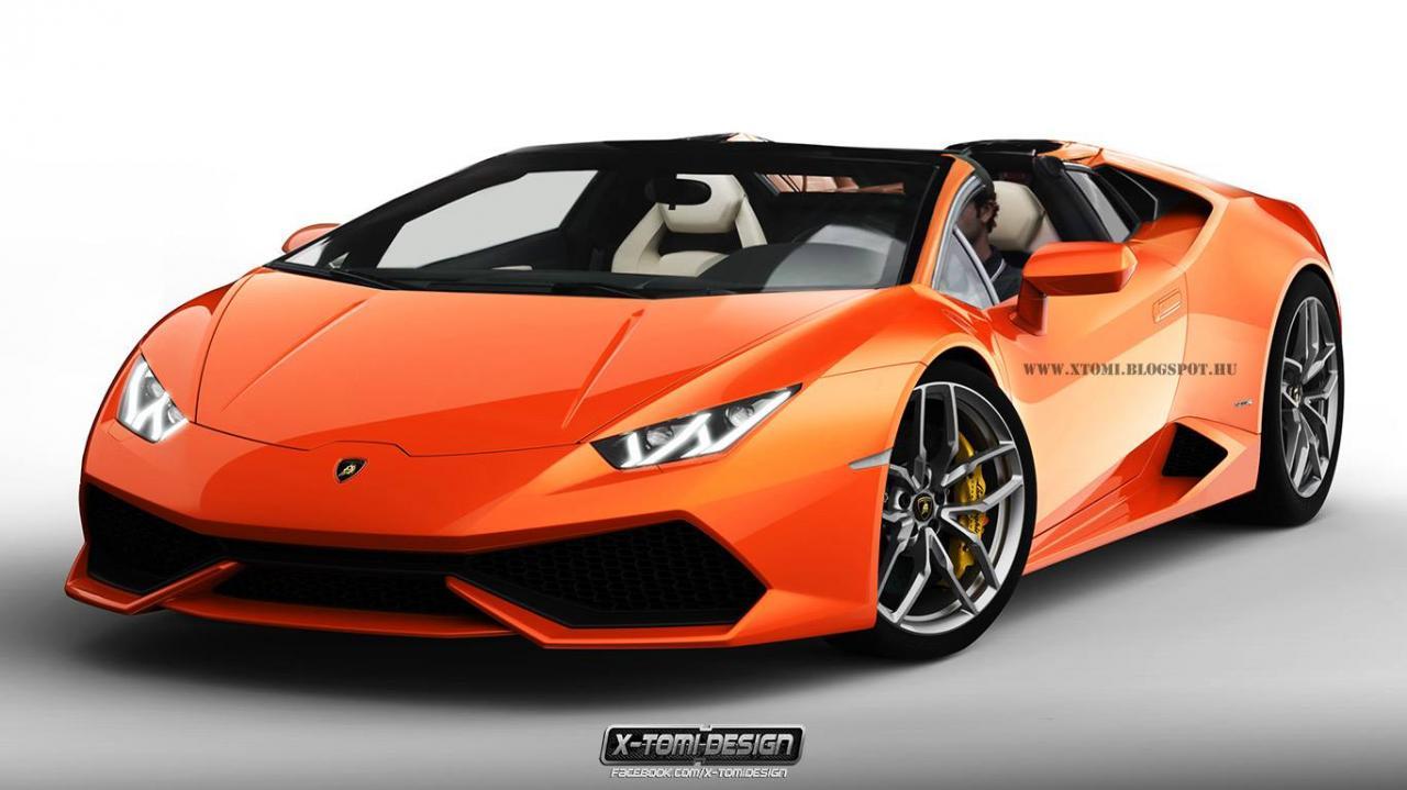 Lamborghini Huracan Roadster рендер X-Tomi Design