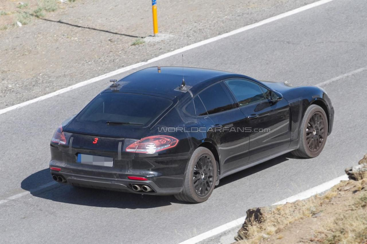 Porsche Panamera 2016 шпионское фото