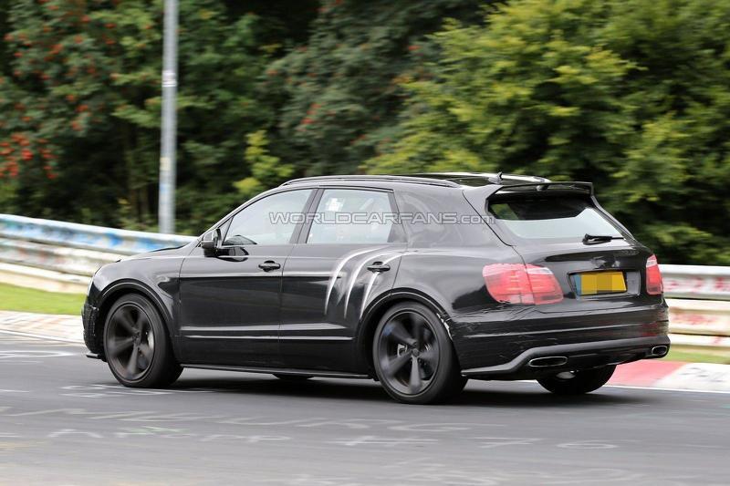 Bentley Bentayga Speed шпионское фото