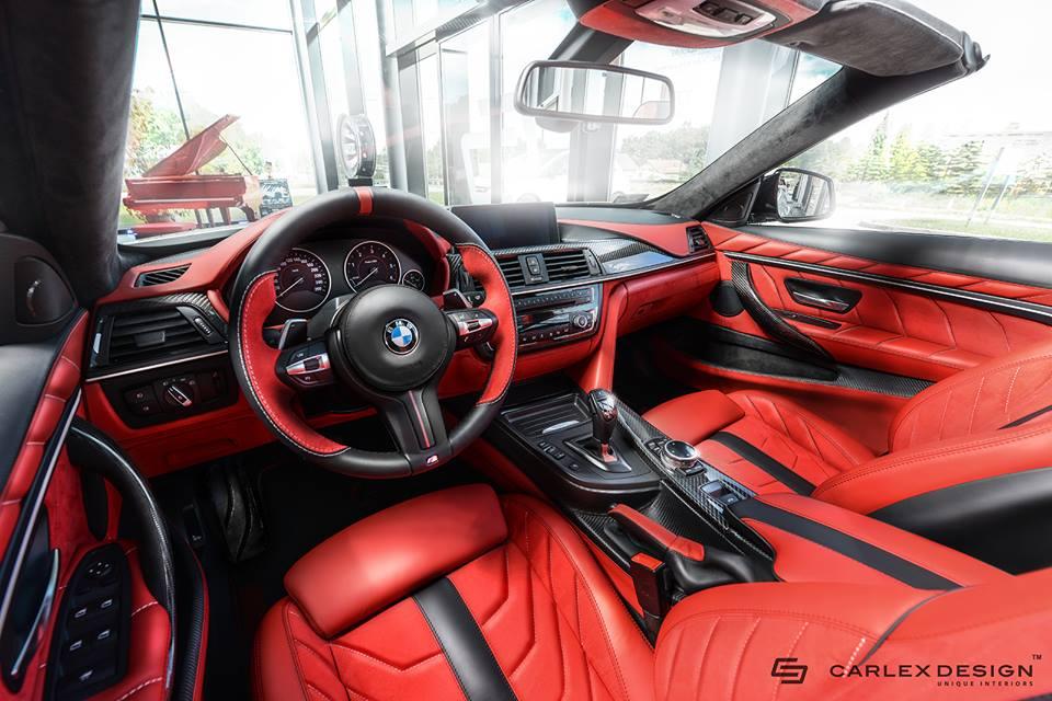 BMW 4-Series Convertible interior tuning / тюнинг интерьера Carlex Design