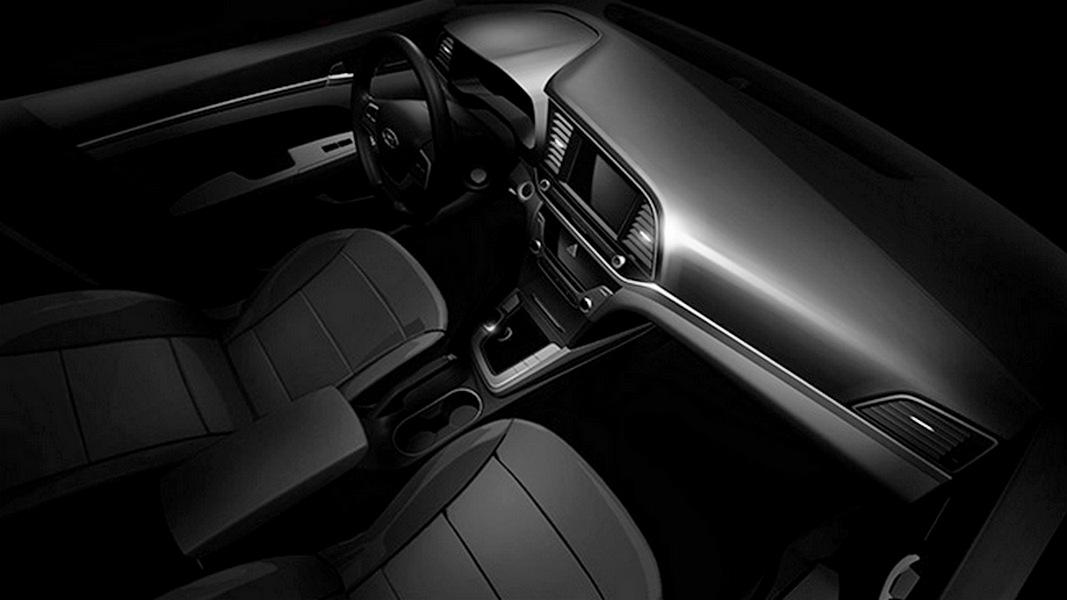 Hyundai Elantra 2016 тизер изображение интерьера