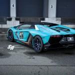 Blue Lamborghini Aventador Roadster insired 50th Anniversary с колесами PUR RS05