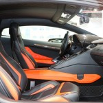 Оранжево-черный Lamborghini Aventador tuning / тюнинг Mansory фото интерьера