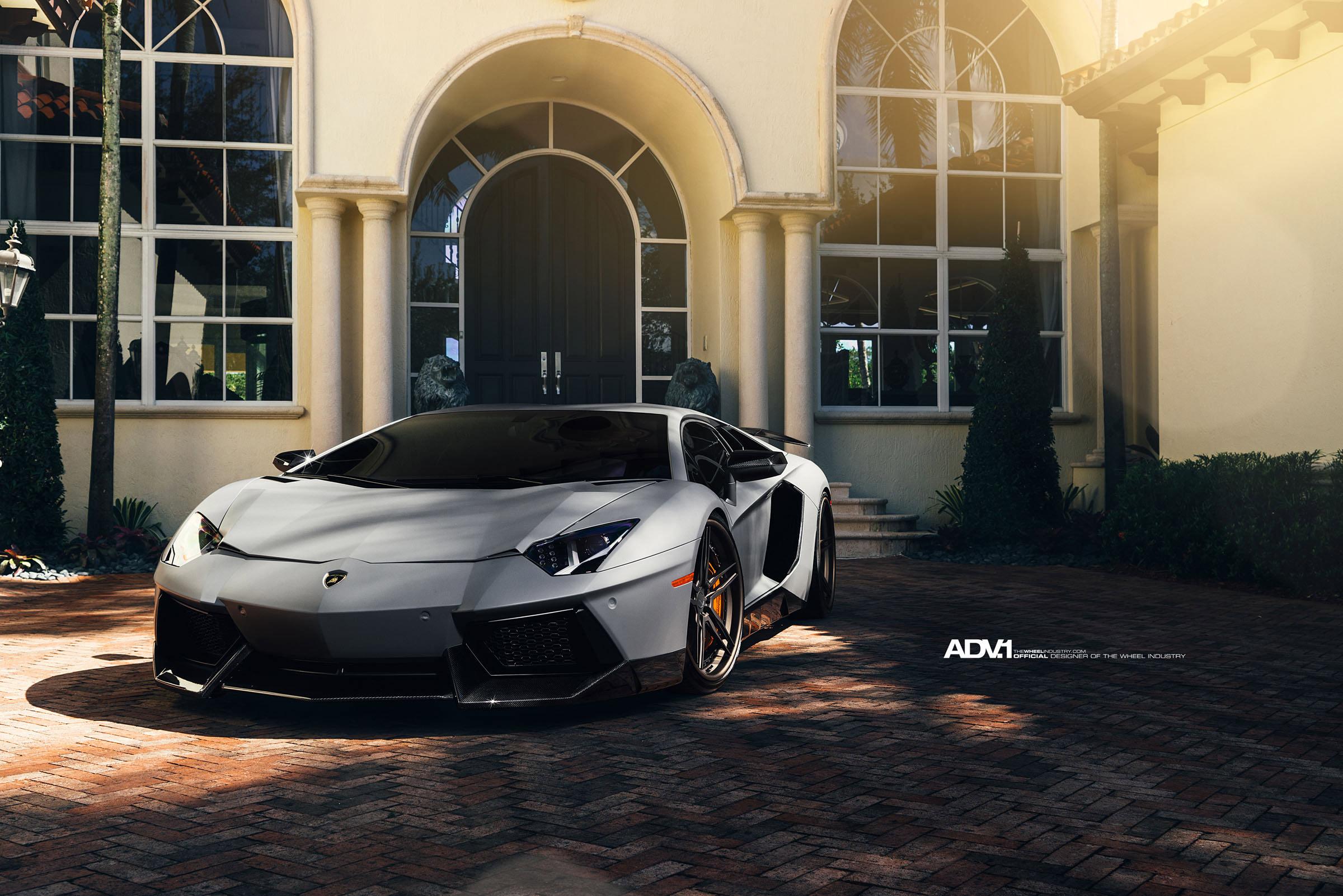 Adv1 Aventador Lamborghini Miami Wallpapers: Потрясающий Novitec Lamborghini Aventador на колесах ADV.1