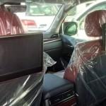 Lexus LX 2016 interior rear seats / интерьер задняя часть