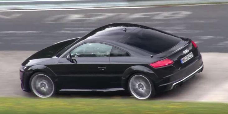 Audi TT RS 2017 test mule TTS spy video