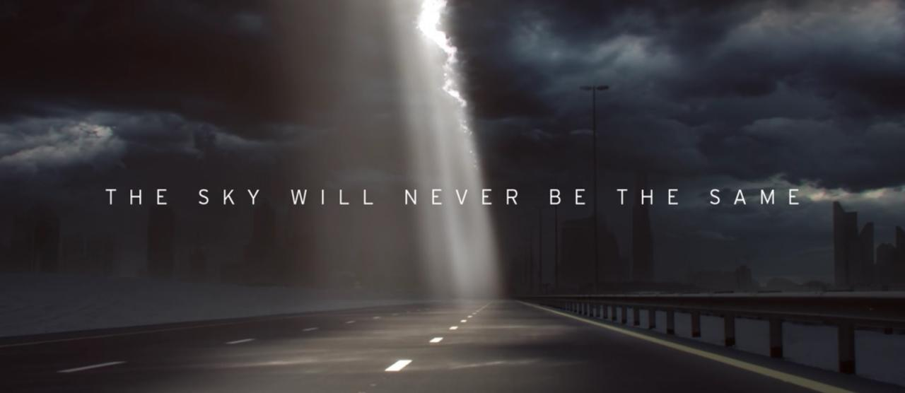 "Lamborghini teaser ""The sky will never be the same"""