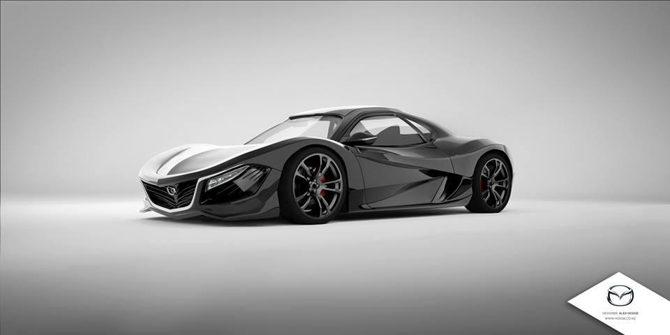 Mazda RX-9 render by Alex Hodge