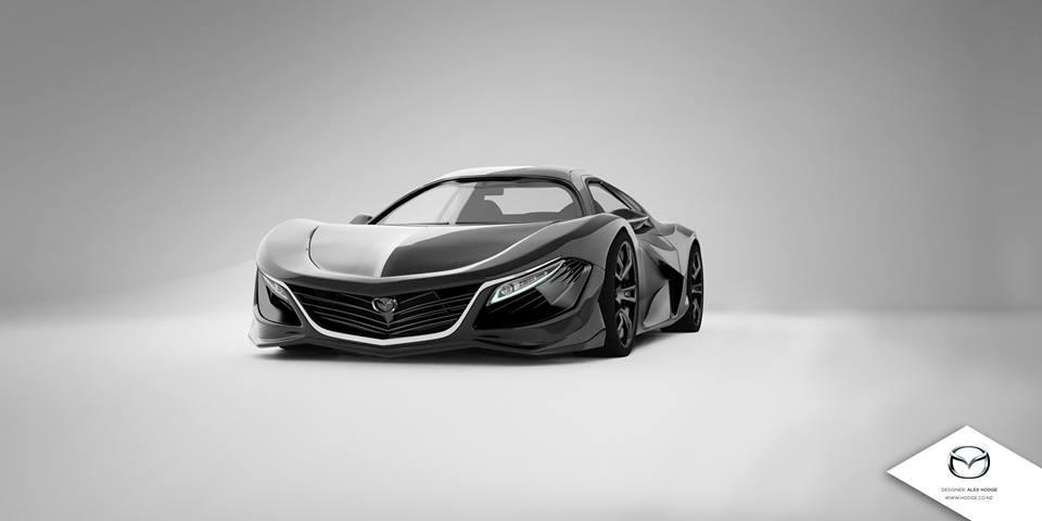 Mazda RX-9 render by Alex Hodge