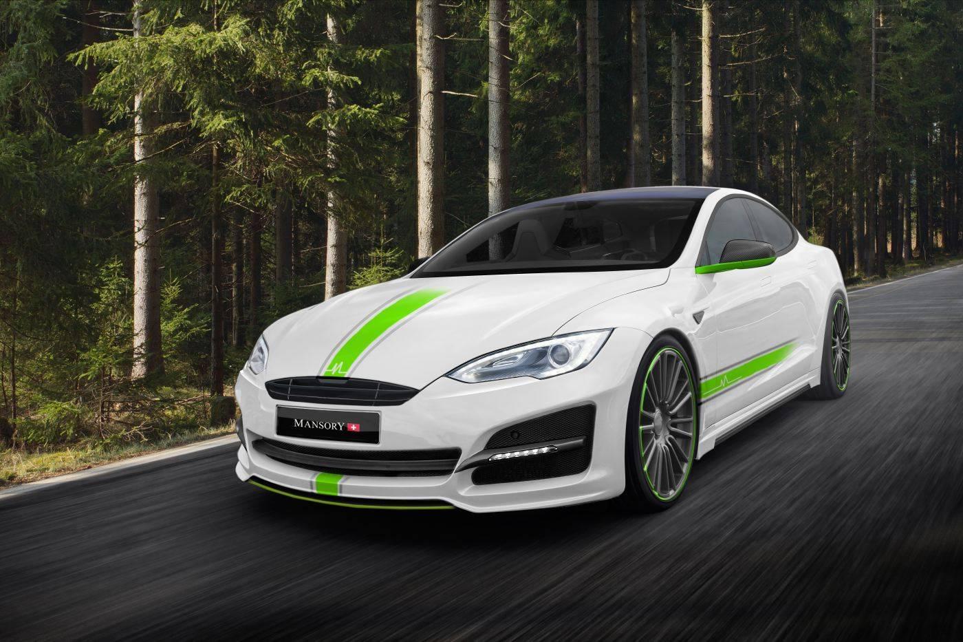 Tesla Model S tuning / тюнинг Mansory передняя часть