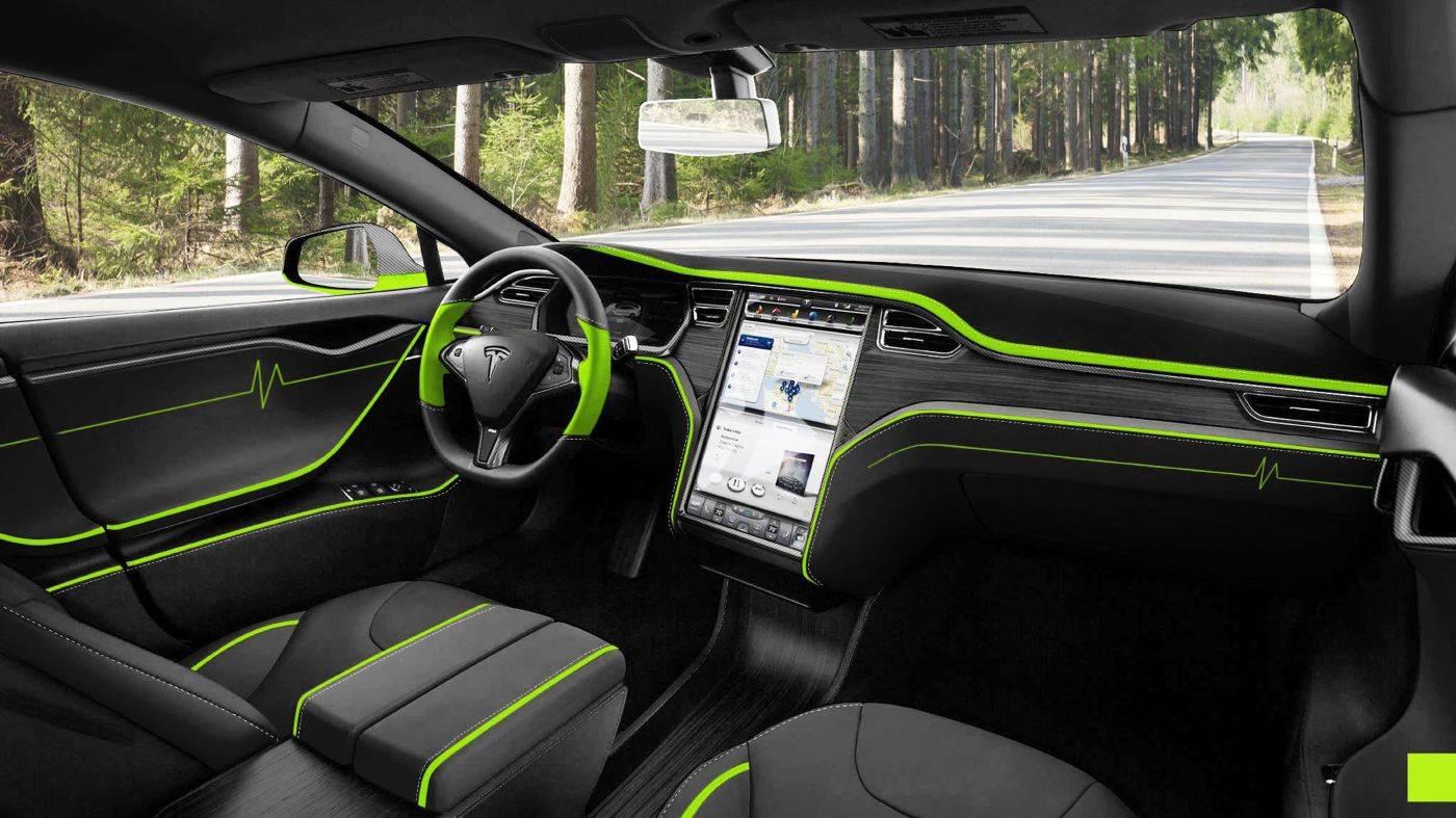 Tesla Model S tuning / тюнинг Mansory интерьер