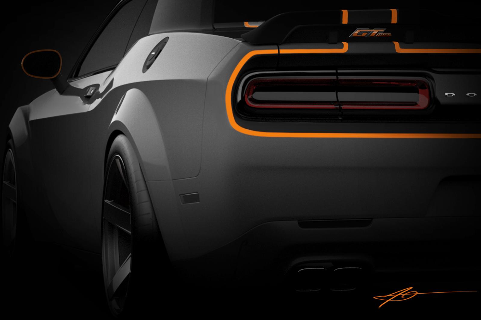 Dodge Challenger GT AWD тизер концепта для SEMA