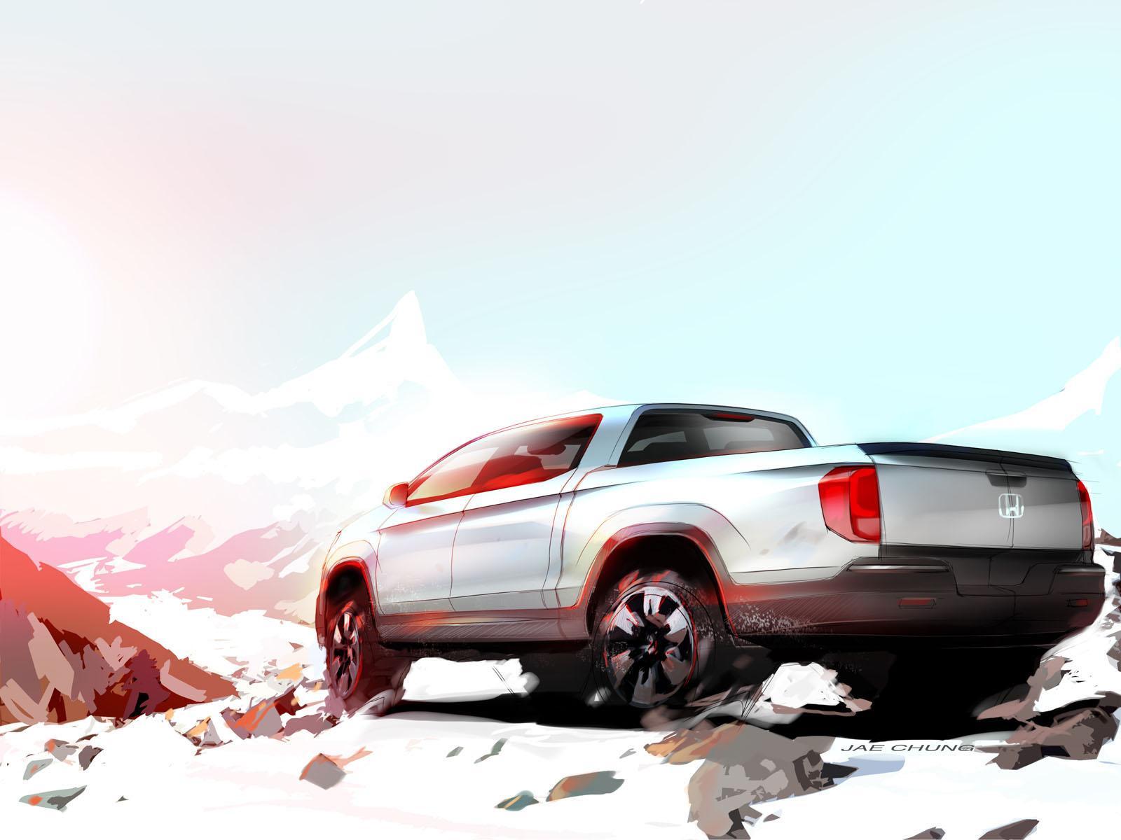 Honda Ridgeline Desert Truck Concept - тизер для SEMA