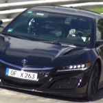 Acura NSX 2016 шпионское видео