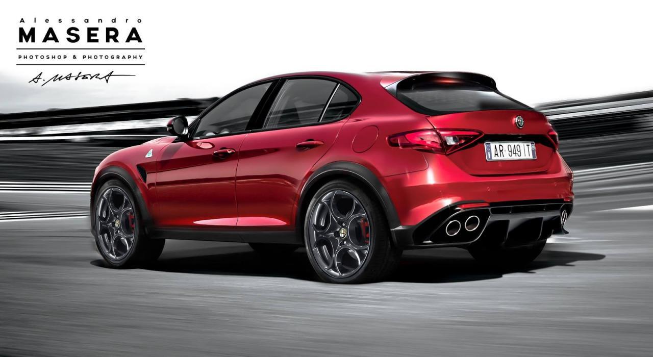 Alfa Romeo кроссовер - независимый рендер