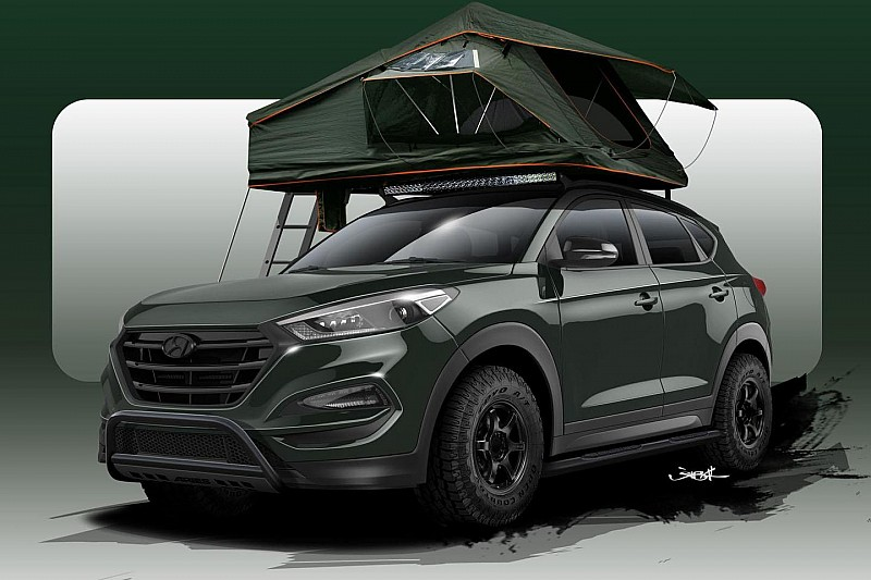 Hyundai Tucson Adventuremobile for SEMA - cooperation with tuner John Pangilinan