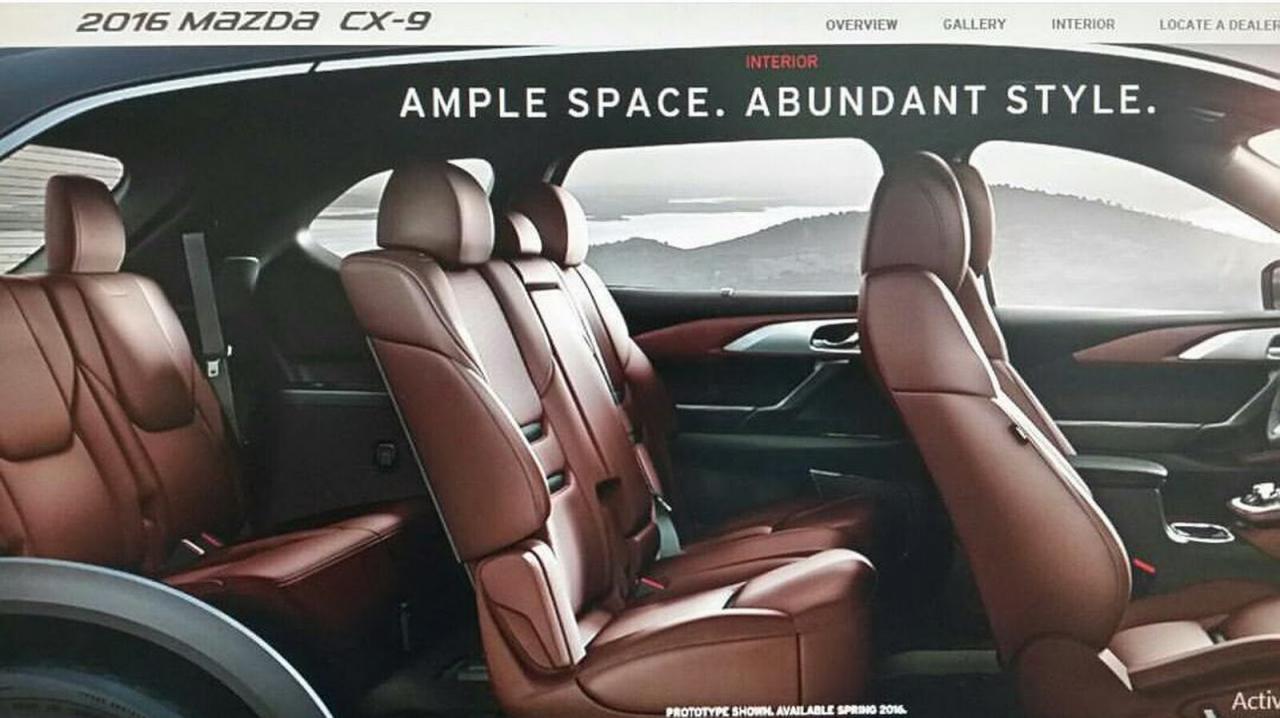 Mazda CX-9 2016 фото-утечка
