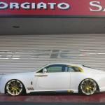 Rolls-Royce Wraith золотой тюнинг от Office-K
