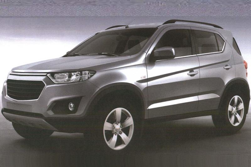 Chevrolet Niva новое поколение - патентные изображения