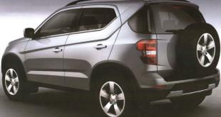 Chevrolet Niva новое поколение - патентные изображения (вид сзади сбоку)