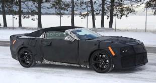 Chevrolet Camaro ZL1 Convertible 2017 шпионское фото