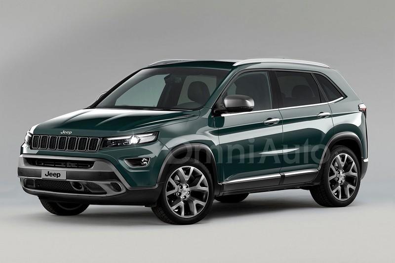 Jeep 2017 рендер компактного внедорожника