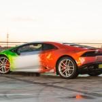 Lamborghini Huracan в пленке от Print Tech и титановым выхлопом Akrapovic