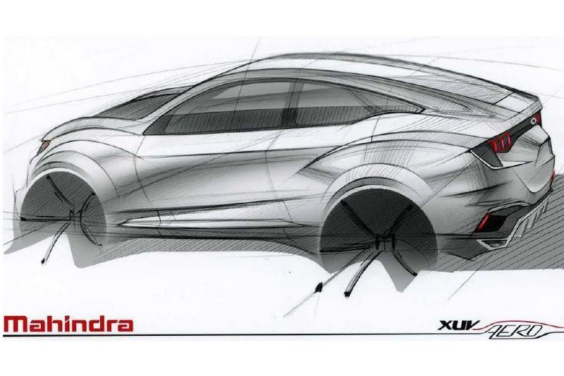 Mahindra XUV Aero концепт на тизере (дизайн-скетч)