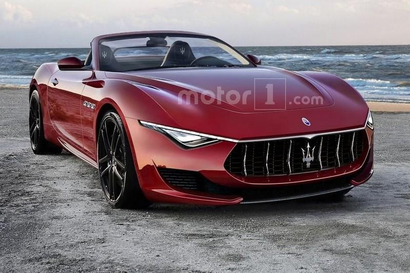 Maserati Alfieri Cabrio неофициальный рендер