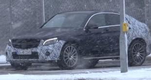 Mercedes GLC Coupe скрин со шпионского видео