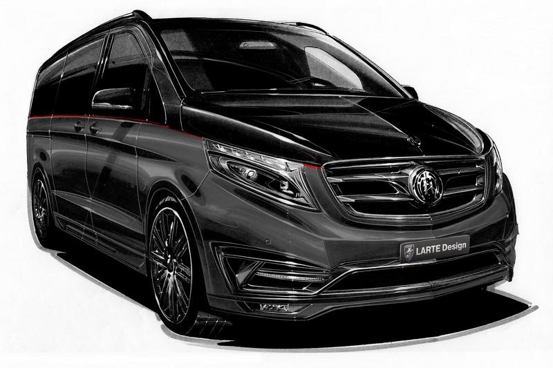 Mercedes-Benz V-Class Black Crystal тюнинг от Larte Design