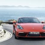 Porsche 718 Boxster S официальное фото, красный спереди
