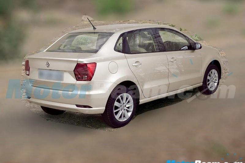 Volkswagen Ameo шпионское фото