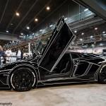 Lamborghini Aventador черный в стиле Tron