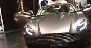 Aston Martin DB11 фото утечка с закрытого мероприятия