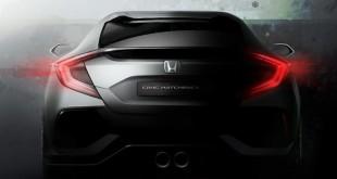 Honda Civic тизер прототипа хэтчбека