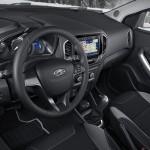 Lada Xray интерьер (руль и приборная панель со стороны водителя)
