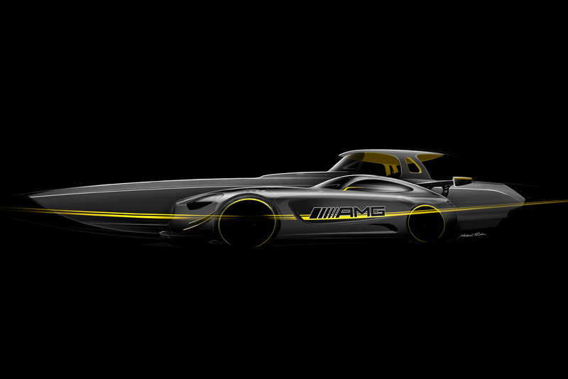 Катер по мотивам Mercedes-AMG GT3